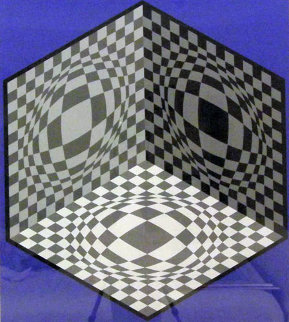 Cubic Relationship  1982 Limited Edition Print - Victor Vasarely