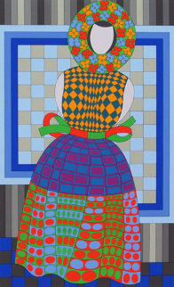 Fille Fleur  1982 Limited Edition Print - Victor Vasarely