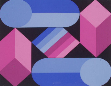 Stri Dio 1988 Limited Edition Print - Victor Vasarely