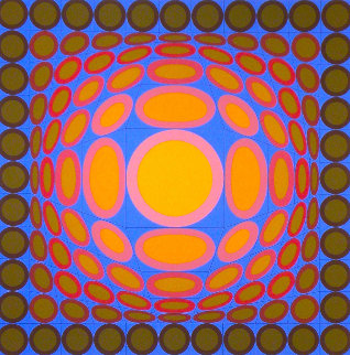 Tri-vega 1975 Limited Edition Print - Victor Vasarely