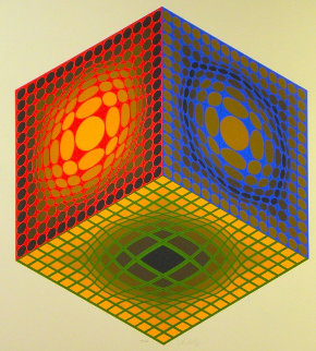 Cube 1980 Limited Edition Print by Victor Vasarely