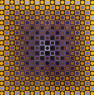 Permutations Alom 1968 Limited Edition Print by Victor Vasarely