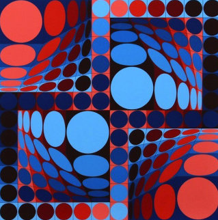 Thez II 1980 Limited Edition Print - Victor Vasarely