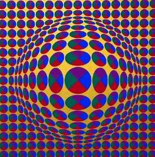 Neptune, From Eight Impressions 1970 Limited Edition Print - Victor Vasarely