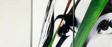 Stare III Triptych 2005 24x72 Original Painting - James Verbicky