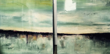 Of the Earth Diptych 2008 36x36 Original Painting - James Verbicky