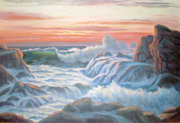 Ageless Sea 1974 Original Painting - John Vignari