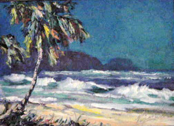 Sunset Beach 10x14 Original Painting - John Vignari