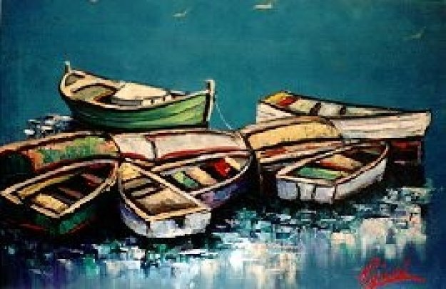 Boats 20x30 Maine