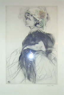 LILI Au Boa Noir 1907 Limited Edition Print - Jacques Villon