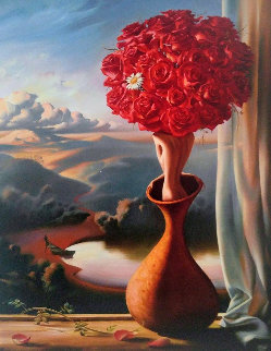 Rose Awaiting 2000 Limited Edition Print - Vladimir Kush