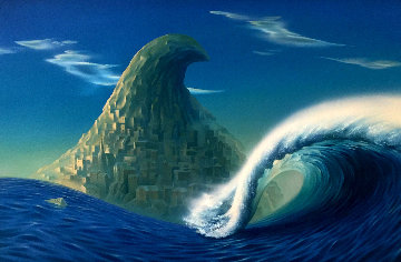 Wave 1992 32x44 Original Painting - Vladimir Kush