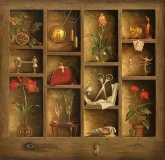 Matrix of Love Limited Edition Print - Vladimir Kush