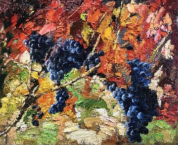Grapes 2017 24x28 Original Painting - Vladimir Mukhin