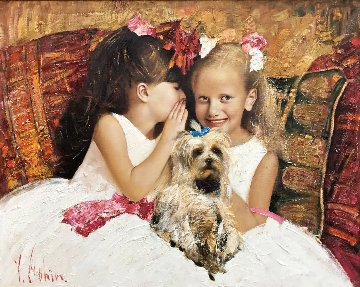 A Secret 2016 34x42 Original Painting - Vladimir Mukhin