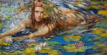 Mermaid 2017 32x56 Original Painting - Vladimir Mukhin