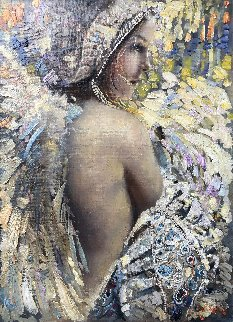 Angel 2018 32x26 Original Painting - Vladimir Mukhin