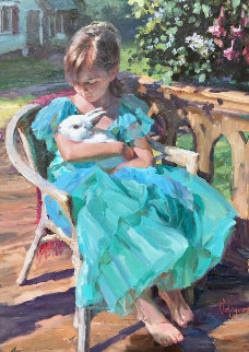 New Friendship 40x30 Original Painting - Vladimir Volegov