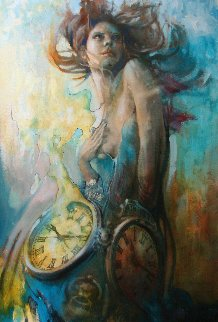 Time Whisperer 2017 48x34 Original Painting -  Voytek