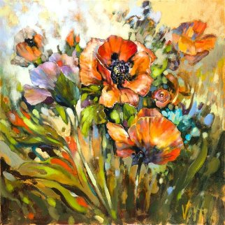 Marta's Garden-on Wind Embellished Limited Edition Print -  Voytek