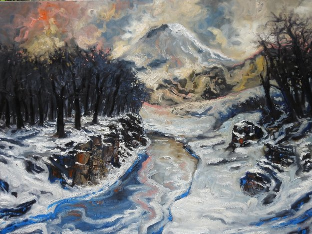 Snow in the Mountains 2016 59x78
