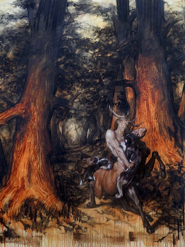 Cernunnos Hunted By Dogs in the Old Celtic Forests 2018 78x59
