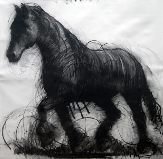 Horse Drawing 2015 59x59 Drawing - Nico Vrielink