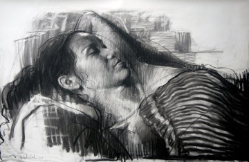 My Wife, My Love Drawing 2015 39x59 Drawing - Nico Vrielink