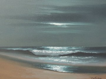 Gilgo Beach, Long Island, New York  2009 20x24 Original Painting - Walfrido Garcia