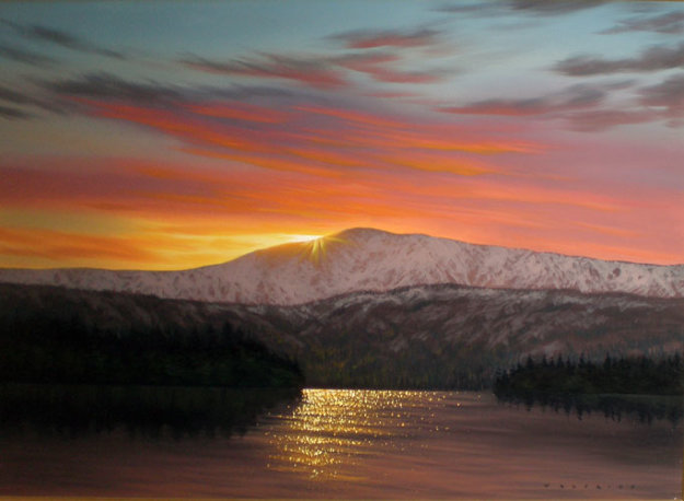 Colors of Sunset, Alaska 24x36