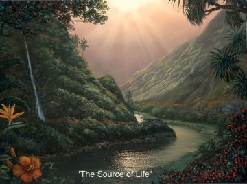 Source of Life AP Embellished Limited Edition Print - Walfrido Garcia