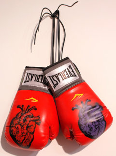 Boxing Gloves (Heart) 2013 Original Painting - Nick  Walker