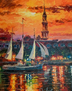 Charleston Waterfront 2017 Embellished Limited Edition Print - Daniel Wall