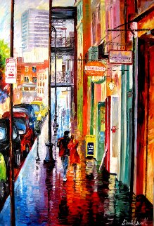 Love in New Orleans 2007 25x37 Original Painting - Daniel Wall