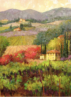 Tuscan Vineyard 2012 48x38 Original Painting - Scott Wallis