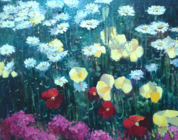 Poppies And Lillies 26x32 Original Painting - Scott Wallis