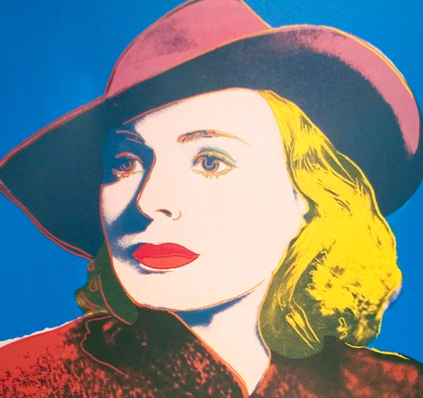 Ingrid With Hat Poster 1983