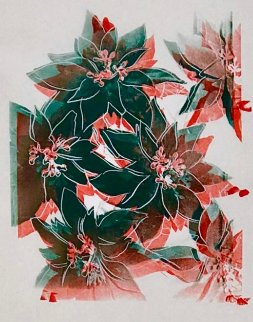 Poinsettias Unique 1985 Limited Edition Print - Andy Warhol