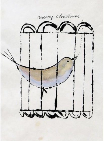 Turtle Dove 1950 15x10 Other by Andy Warhol