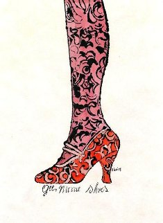 Gee Merrie Shoe 1960 Watercolor - Andy Warhol