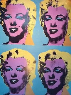 Four Marilyns Poster 1985 Limited Edition Print - Andy Warhol
