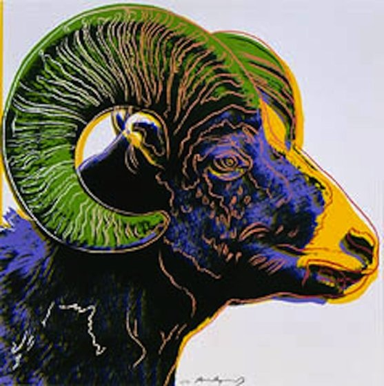 Bighorn Ram, from: Endangered Species (F. & S. II.302) 1983 by Andy Warhol