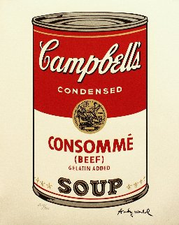 Soup Can - Consommé Poster 1986 Limited Edition Print - Andy Warhol
