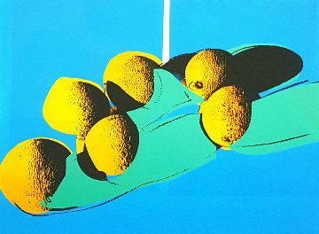 Space Fruits: Still Life (Cantaloupes I) Exhibition Poster 1979 Limited Edition Print - Andy Warhol