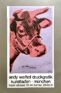 Cow Wallpaper (Yellow) Poster 1983 Hand Signed Limited Edition Print - Andy Warhol