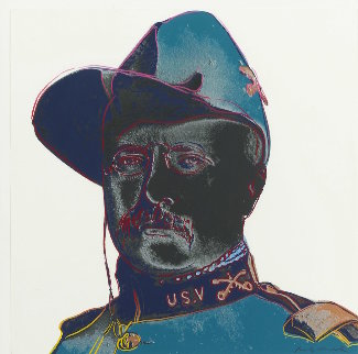 Cowboys And Indians: Teddy Roosevelt 1986 FS  II.386 Limited Edition Print - Andy Warhol