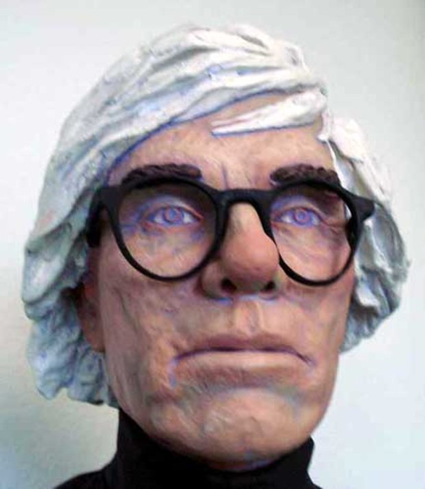 Andy Warhol Life Size Sculpture by Jack Dowd 2007