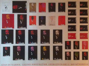 Lenin Poster (rare) Limited Edition Print - Andy Warhol
