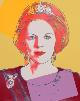 Queens: Queen Beatrix of the Netherlands AP  ( II.341) 1985 Limited Edition Print - Andy Warhol