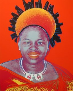 Queens: Queen Ntombi Twala of Swaziland II.349, 1985 Limited Edition Print - Andy Warhol